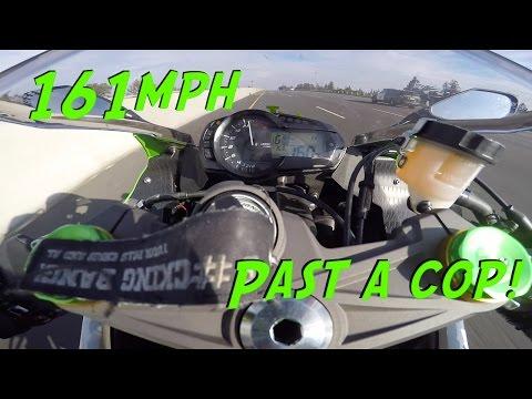 Flying past a cop at 161MPH[MotoVlog-ish]