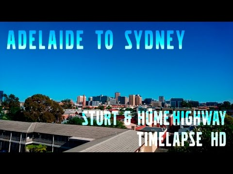 Adelaide to Sydney in 50 minutes Sturt & Hume Highway Time-lapse HD