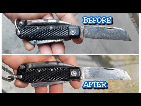 HOW TO Clean - Sharpen - Restore - An Old Knife or Pocket Knife