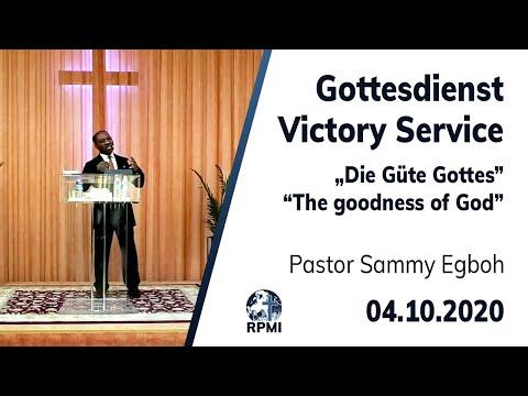 """RPMI-Gottesdienst - Livestream vom 04.10.2020 - Pastor Sammy Egboh """"Die Güte Gottes"""""""