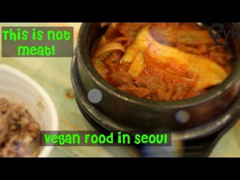 0 Food Adventure Program For Awesome People!   Vegan Food in Seoul