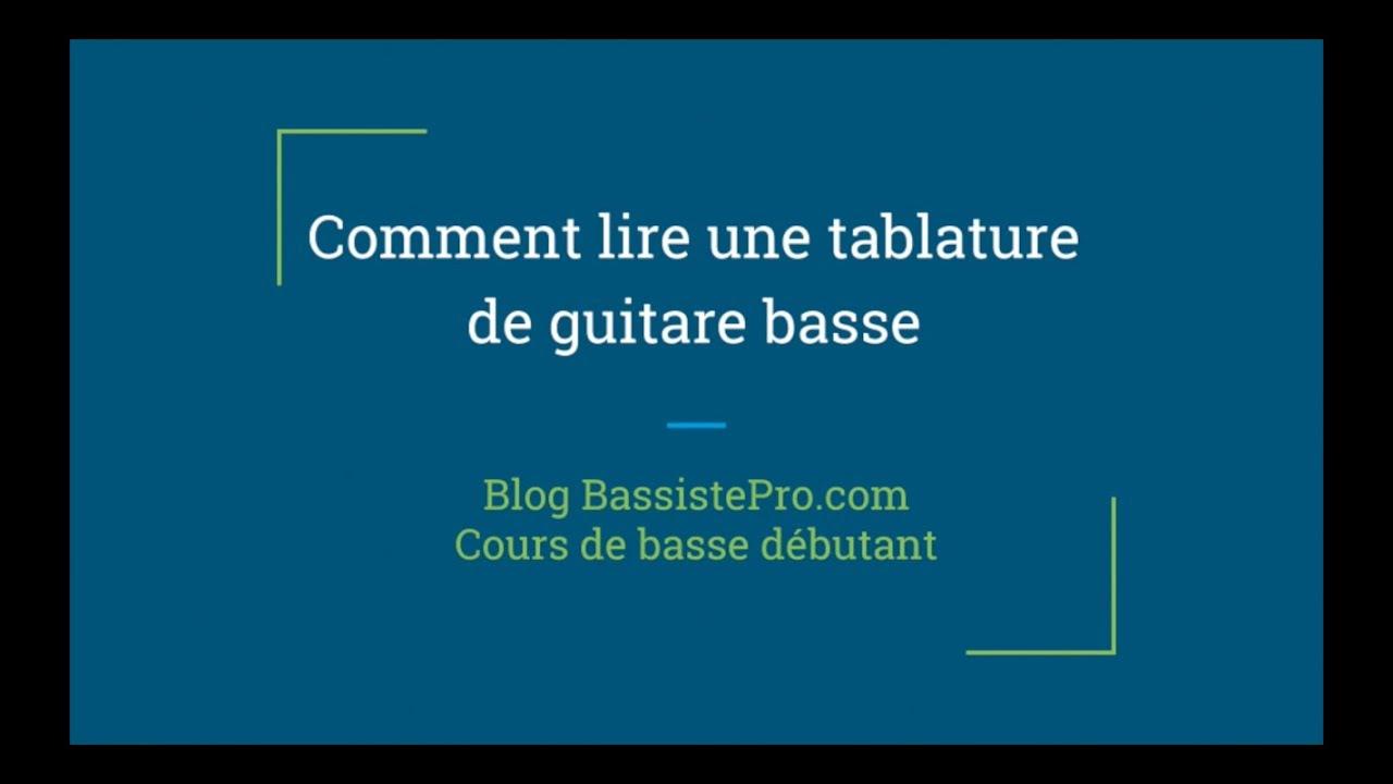 Comment lire facilement une tablature à la guitare basse ...