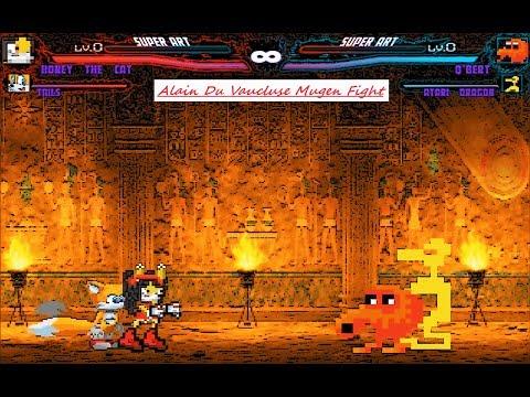 Mugen : Honey The Cat & Tails Vs Q-Bert & Atari Dragon (Request)