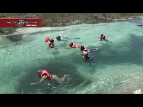 ESTROMATOLITOS, Laguna de Bacalar, Quintana Roo, México. (HD) y en 3D (Lentes Cian/Rojo)