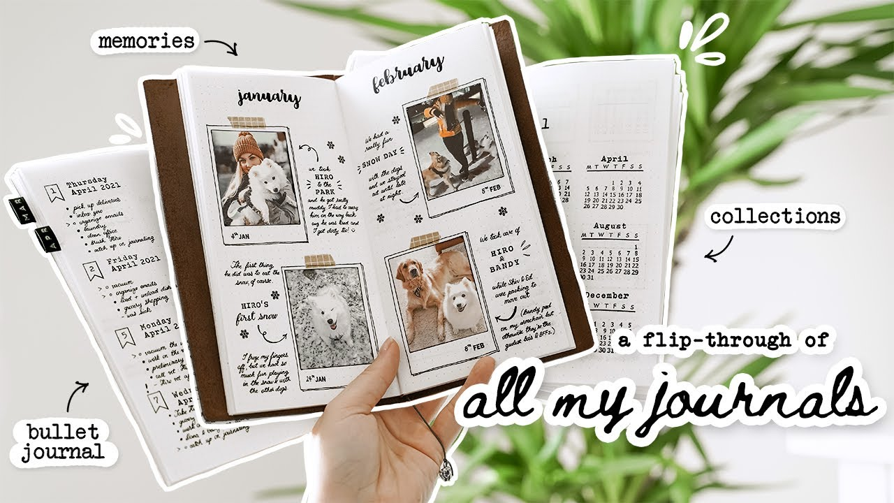 a flip through ALL of my journals & how I use them