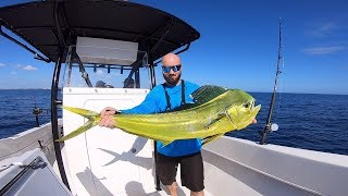 Mahi for Dinner!  Tuna and Dolphin Offshore Fishing! Pompano, Florida