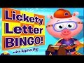 ABC 123 Games | ABC News Video Games | Lickety Letter BINGO with Alpha Pig