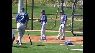 Maury Wills bunting session February 26