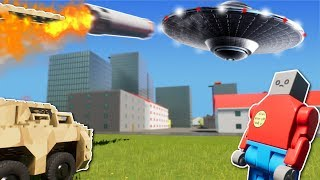 LEGO CITY SAVED FROM ALIEN INVASION? - Brick Rigs Multiplayer Gameplay - Alien invasion survival