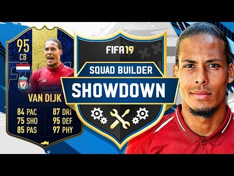 TOTY 95 VAN DIJK SQUAD BUILDER SHOWDOWN VS AJ3!! - FIFA 19 ULTIMATE TEAM