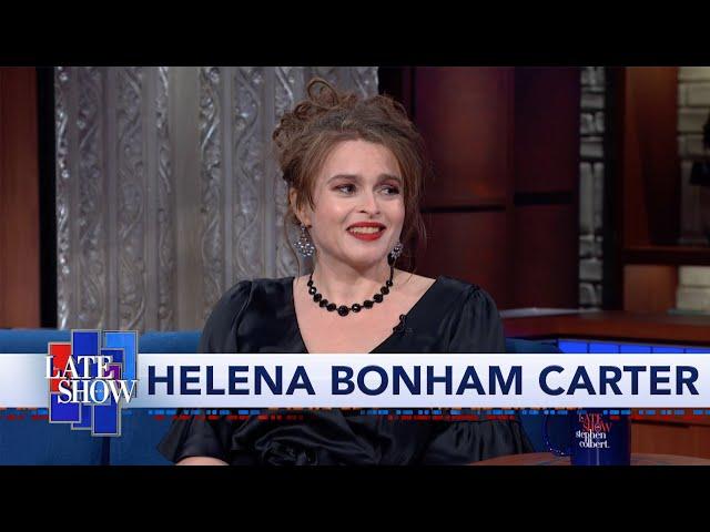 Helena Bonham Carter Spills The Tea To Stephen Colbert