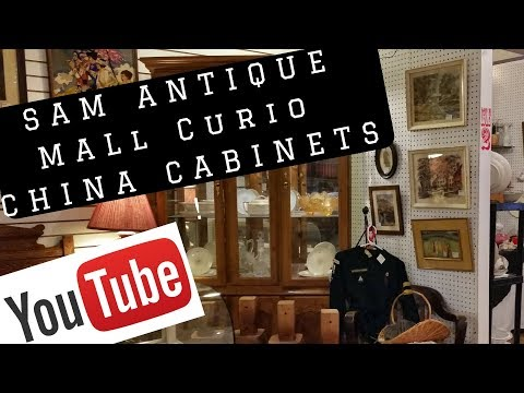 Strathroy Antique Mall SAM China Cabinets Curio China Bow Front SALE now