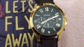 Fossil FS5068 Grant Chronograph Watch revealed
