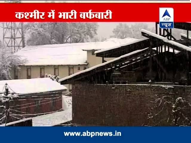 Heavy snowfall in Srinagar; cold wave in country