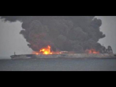 Nach Kollision: Havarierter Tanker vor China droht zu explodieren