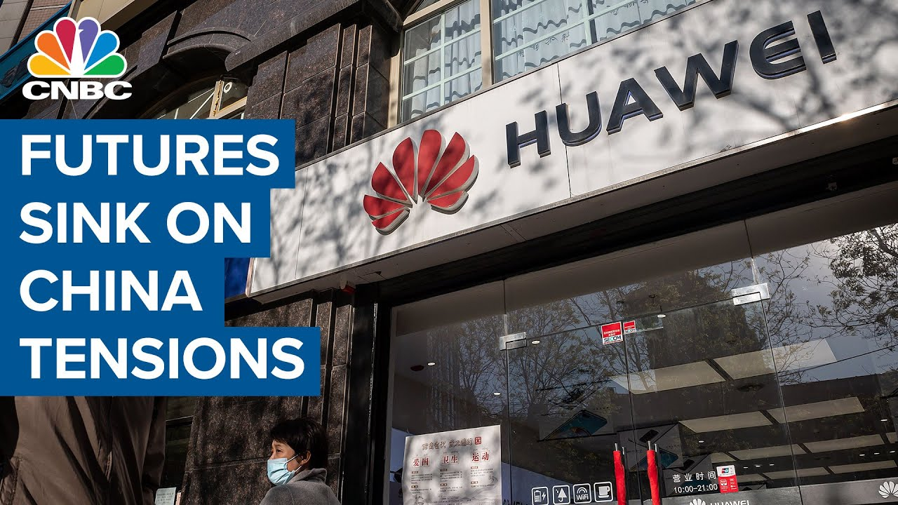 Futures fall after Trump administration moves to block chip shipments to Huawei
