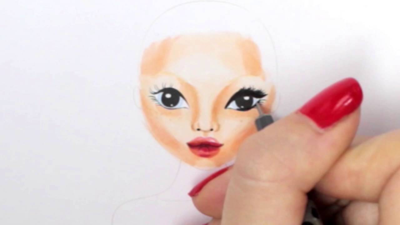 Topmodel Malbuch How To Draw A Face Gesicht Malen Copics Foxy Draws