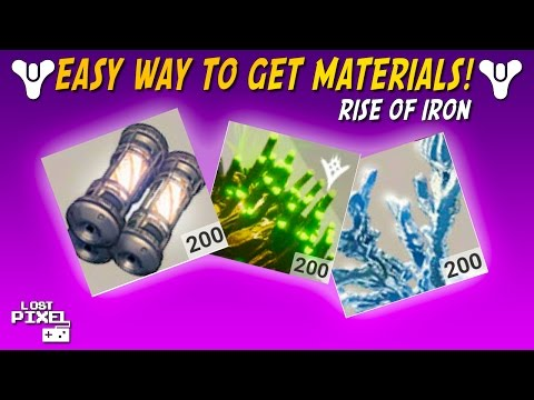 Destiny: EASY WAYS TO GET PLANETARY MATERIALS! (Rise of Iron)