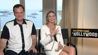 Once Upon a Time in Hollywood || Margot Robbie & Quentin Tarantino Cannes Junket || #SocialNews.XYZ