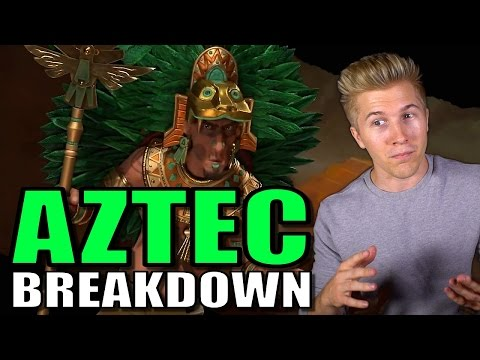 Civilization 6: Gameplay - Aztec [Leader Tips & Strategy Breakdown]