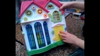 Детский игровой набор домик чемоданчик.Игрушки для девочек. Обзор домика.