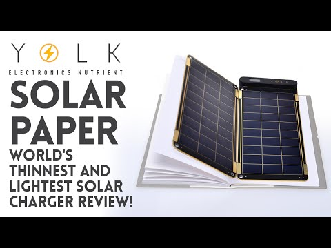Yolk Solar Paper - World's Thinnest and Lightest Solar Charger Review!