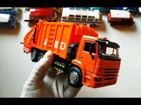 Камаз 65115 МУСОРОВОЗ распаковка и обзор модели грузовика масштаб 1/38.