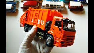 Про МАШИНКИ. Моделька грузовика Камаз 65115 МУСОРОВОЗ распаковка и обзор модели масштаб 1/38.