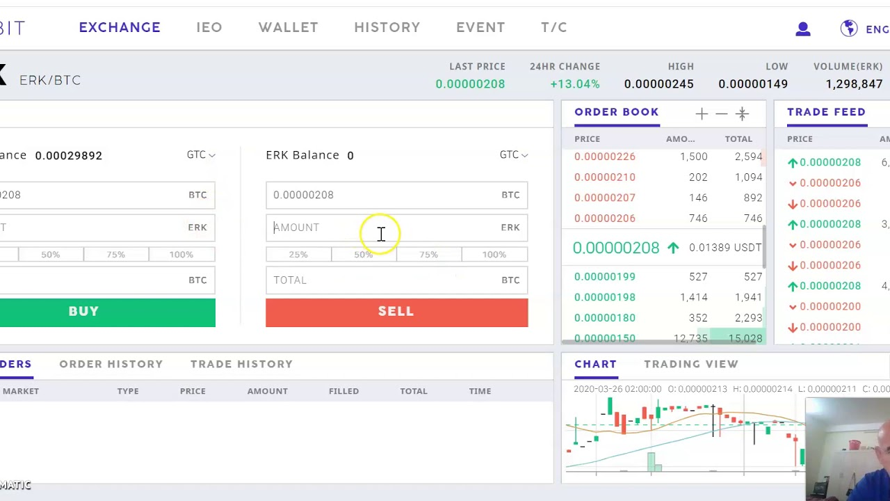 How to sell and buy Eureka Coin ERK on Probit exchange with Bitcoin as a pair.