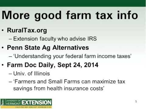Farm Tax Basics for Beginning Farmers