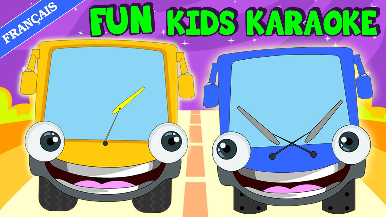Wheels On The Bus Learn French  Karaoke Song  Sing -5323