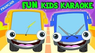 Wheels on the Bus: Learn French | Karaoke Song | Sing Along Kid Songs thumbnail