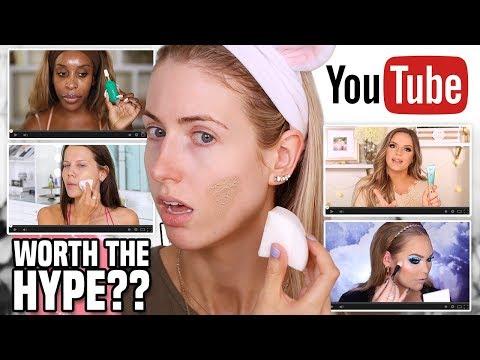 I Tried BEAUTY GURUS Makeup FAVORITES...?? || Full Day WEAR TEST