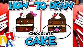 How To Draw Funny Chocolate Cake