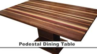 Pedestal Dining Table - Walnut, Bloodwood, Yellowheart, Cherry & Maple