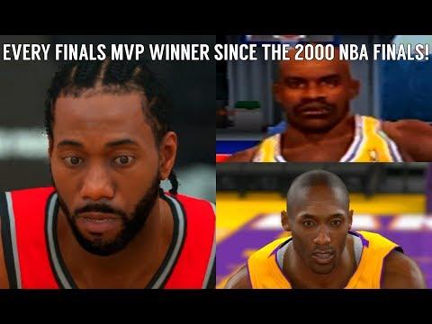 Every NBA Finals MVP Winner Since The 2000 NBA Finals (NBA 2K - NBA 2K19)