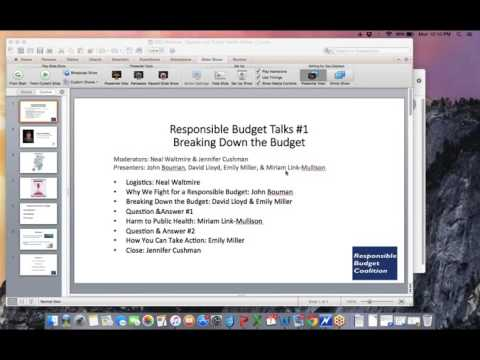Responsible Budget Talks #1: Breaking Down the Budget