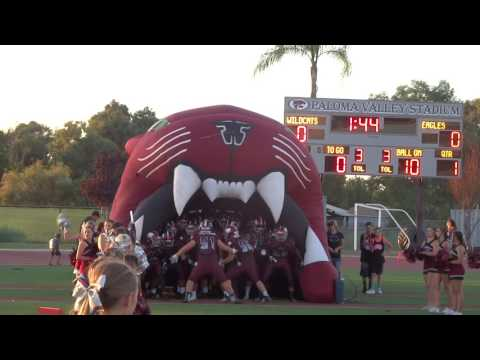 Paloma Valley High School Football 2016 Home Opener