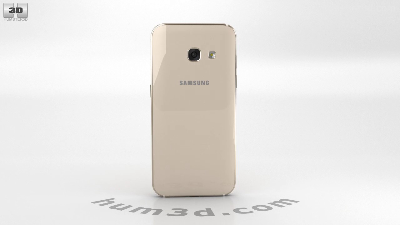 Samsung Galaxy A3 2017 Gold Sand 3d Model By Hum3dcom