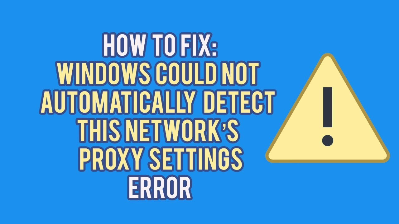 How to Solve the Windows Could Not Automatically Detect