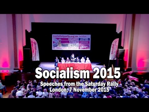 Socialism 2015 Saturday Rally hosted by the Socialist Party