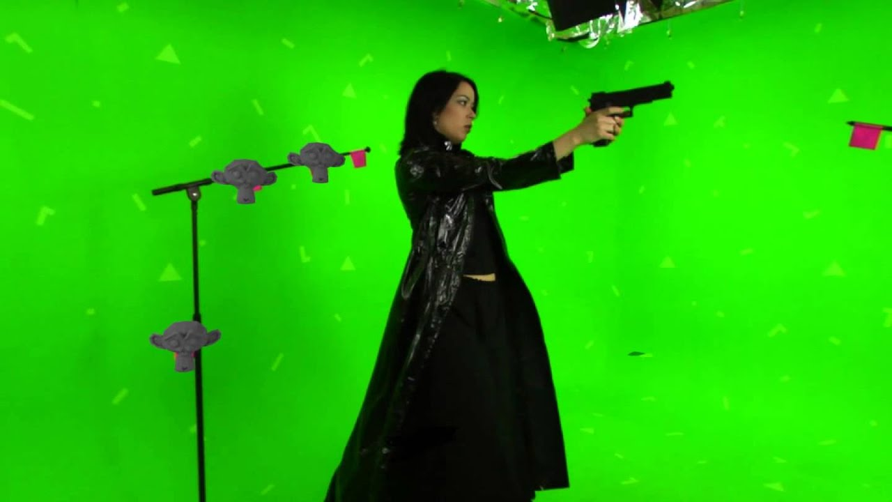 Green Screen Video Tracked With Blender 2 64 Training For