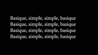 ORELSAN-BASIQUE (LYRICS)