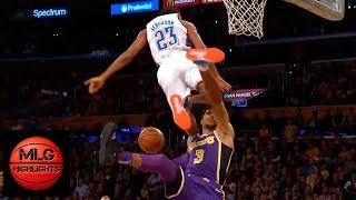 Terrance Ferguson hard fall after trying blocks Josh Hart | Lakers vs Thunder