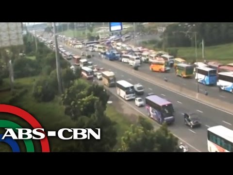 NLEX becomes 'parking lot' amid INC celebration