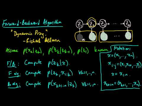 (ML 14.6) Forward-Backward algorithm for HMMs