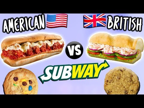 AMERICAN vs. BRITISH Subway Food