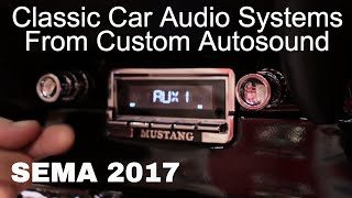 Classic Car Stereo Systems Custom Autosound at SEMA 2017 V8TV Video