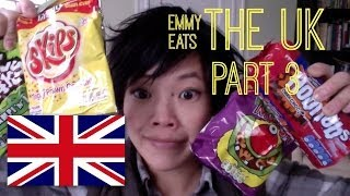 Emmy Eats the U.K. Great Britain | More British snacks & sweets