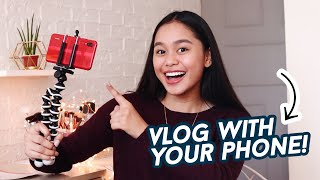 How To Start Vlogging w/ Your Phone! | ThatsBella